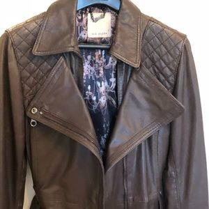 Ted Baker brown leather jacket